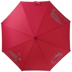Parapluie canne Hello Kitty corail